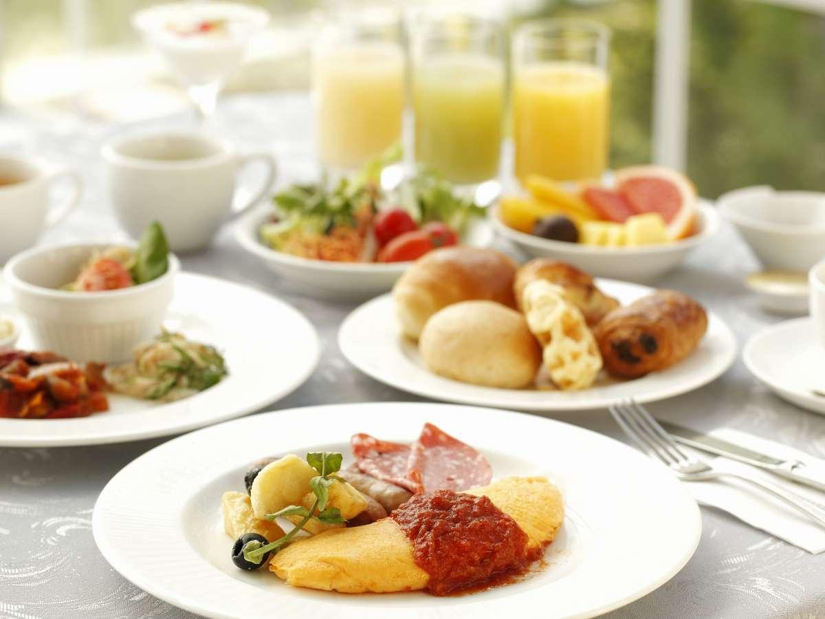 ☆ご朝食☆那須御養卵を使ったふわふわオムレツは朝食バイキングの1番人気!