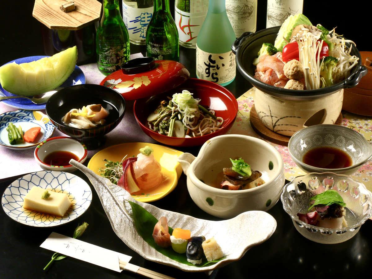【夕食】信州地方の四季を感じる会席をお愉しみください。