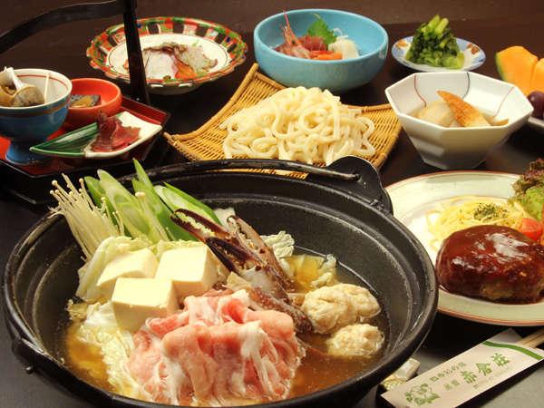 冬季の「日替りメニュー」☆特製海鮮ちゃんこ鍋とふっくらハンバーグ御膳
