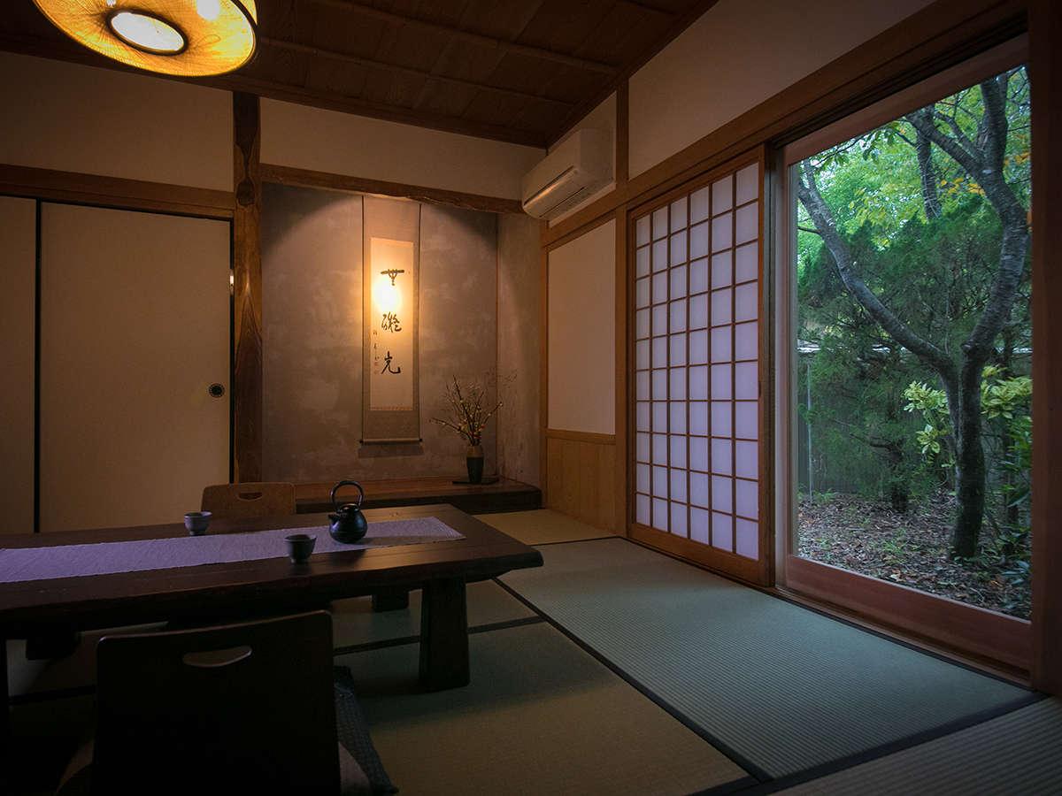 【お部屋一例】その名の通り、竹がふんだんに使われたお部屋です。