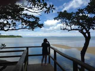 【ネイチャーツアー:1日コース】マングローブ林を抜けると、美しい海と青い空の景色