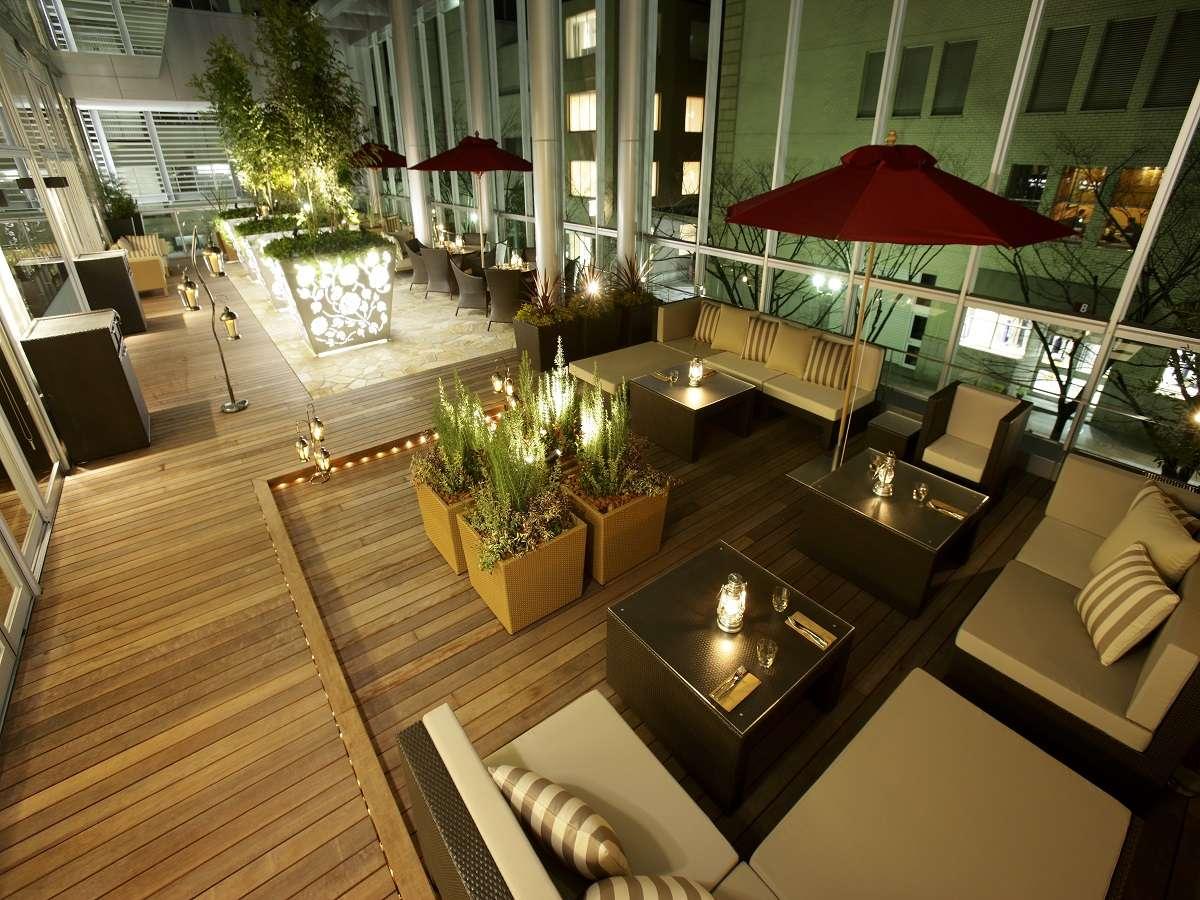 ゆったりとした、2階「ガーデンテラス」