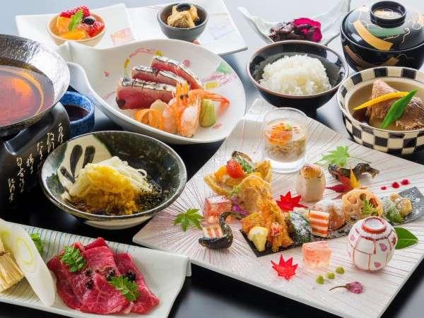 【創作日本料理~雅~】鰹のタタキや和牛の特製山椒鍋が味わえます。※写真はイメージです。