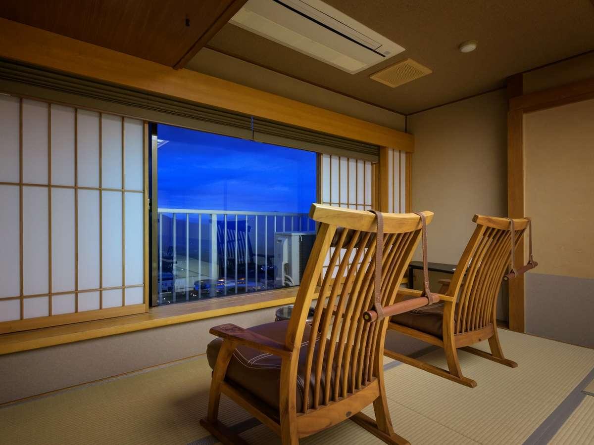 【禁煙:最上階和室】10畳/眺望◎上州の山々を望む/BT付