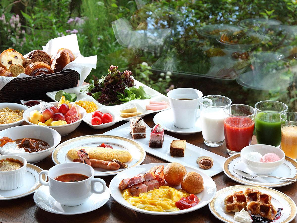 ・朝食:庭園の眺めとともにお召し上がりください。(イメージ)