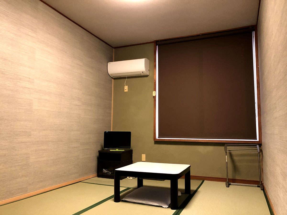 【和室6畳】改装したばかりの新しい客室を是非ご利用下さい。