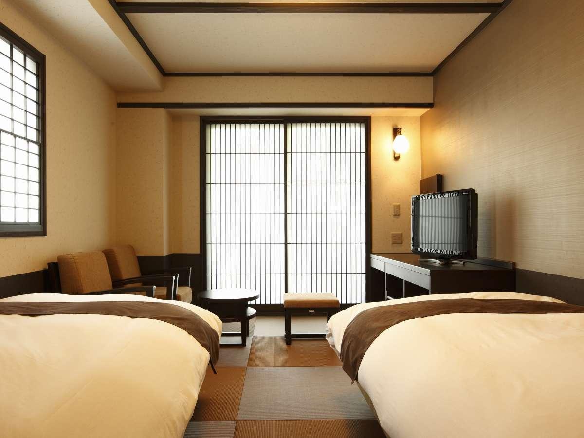 和風ツイン◆100㎝幅ベットorマットレス2台(2名定員)21㎡/Twin Room with Bed or Mattress