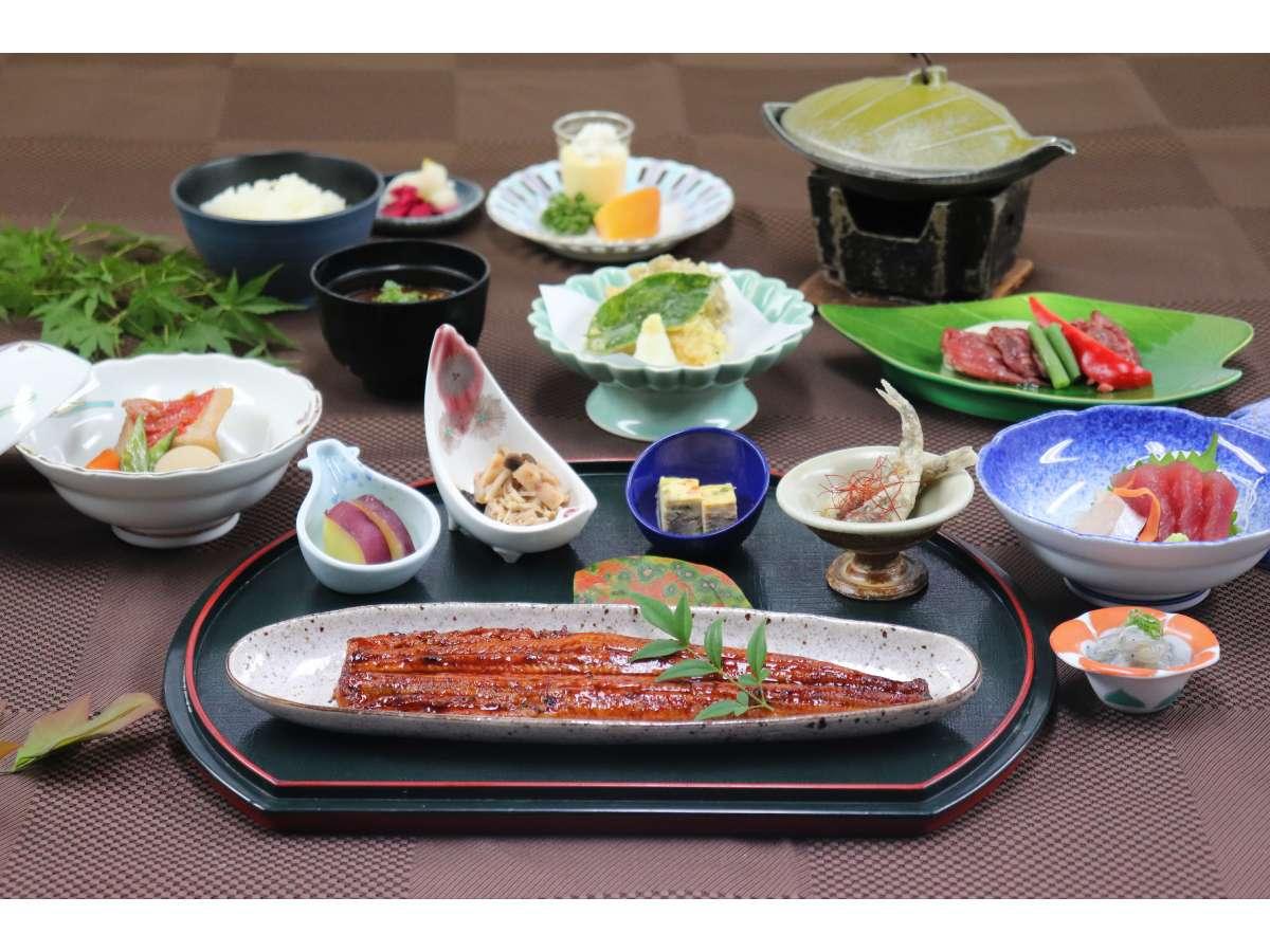 国産鰻蒲焼一尾付きお膳料理(イメージ)