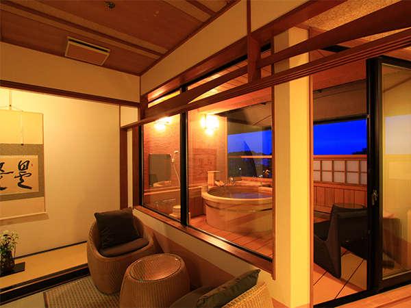 【露天付客室 禁煙】2016年7月完成 ギネス認定の花時計や駿河湾など6階からの眺望を楽しめる露天風呂付