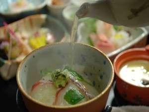 桜鯛の昆布〆茶漬け