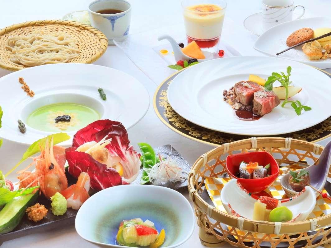 〔夕食〕~ピリカコース~旅の目的は、贅沢なお料理と美肌の湯