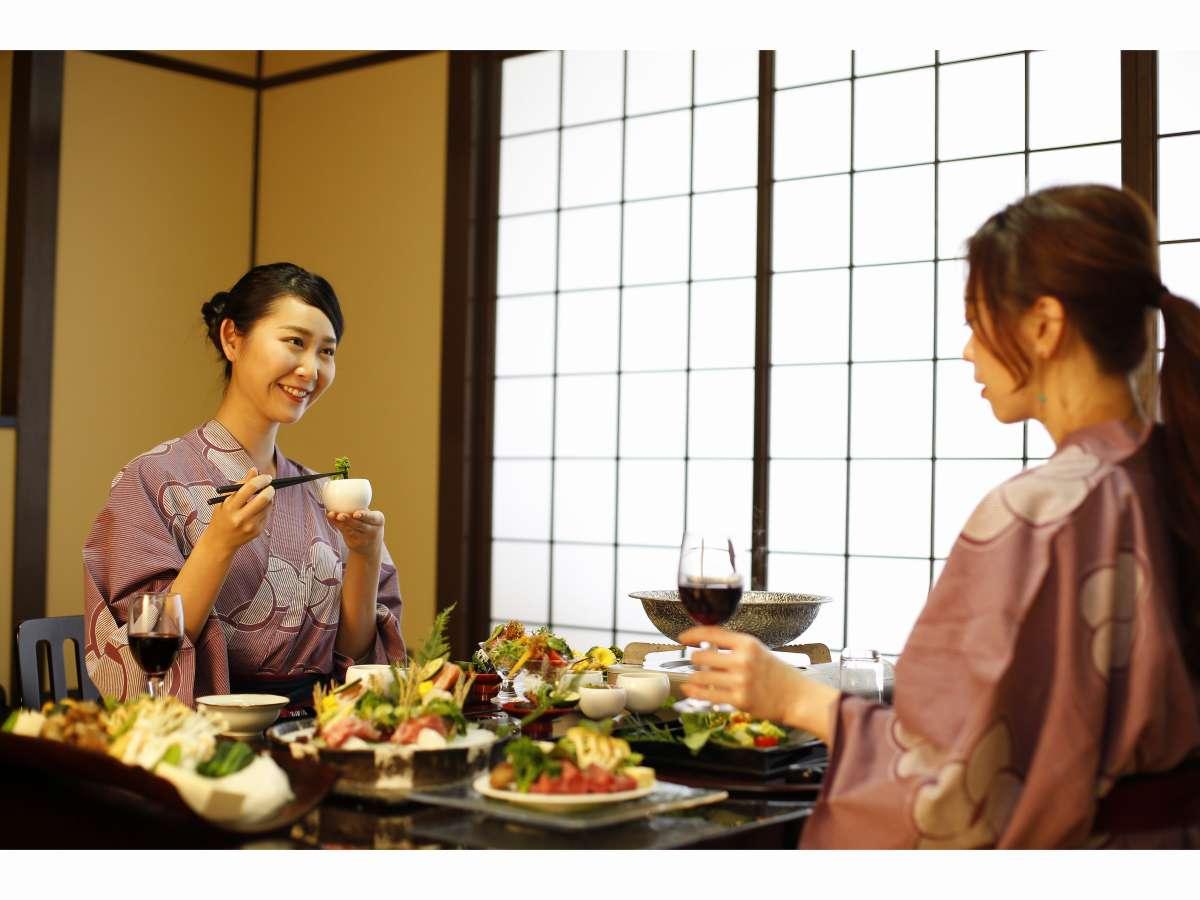 お部屋でゆっくりお食事を
