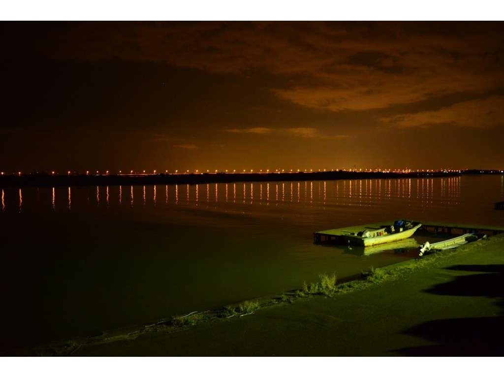石狩川の夜景