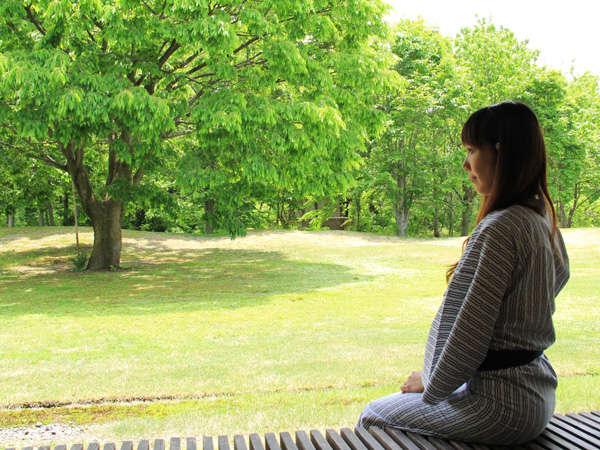 【自然庭園】四季折々の自然をお楽しみください