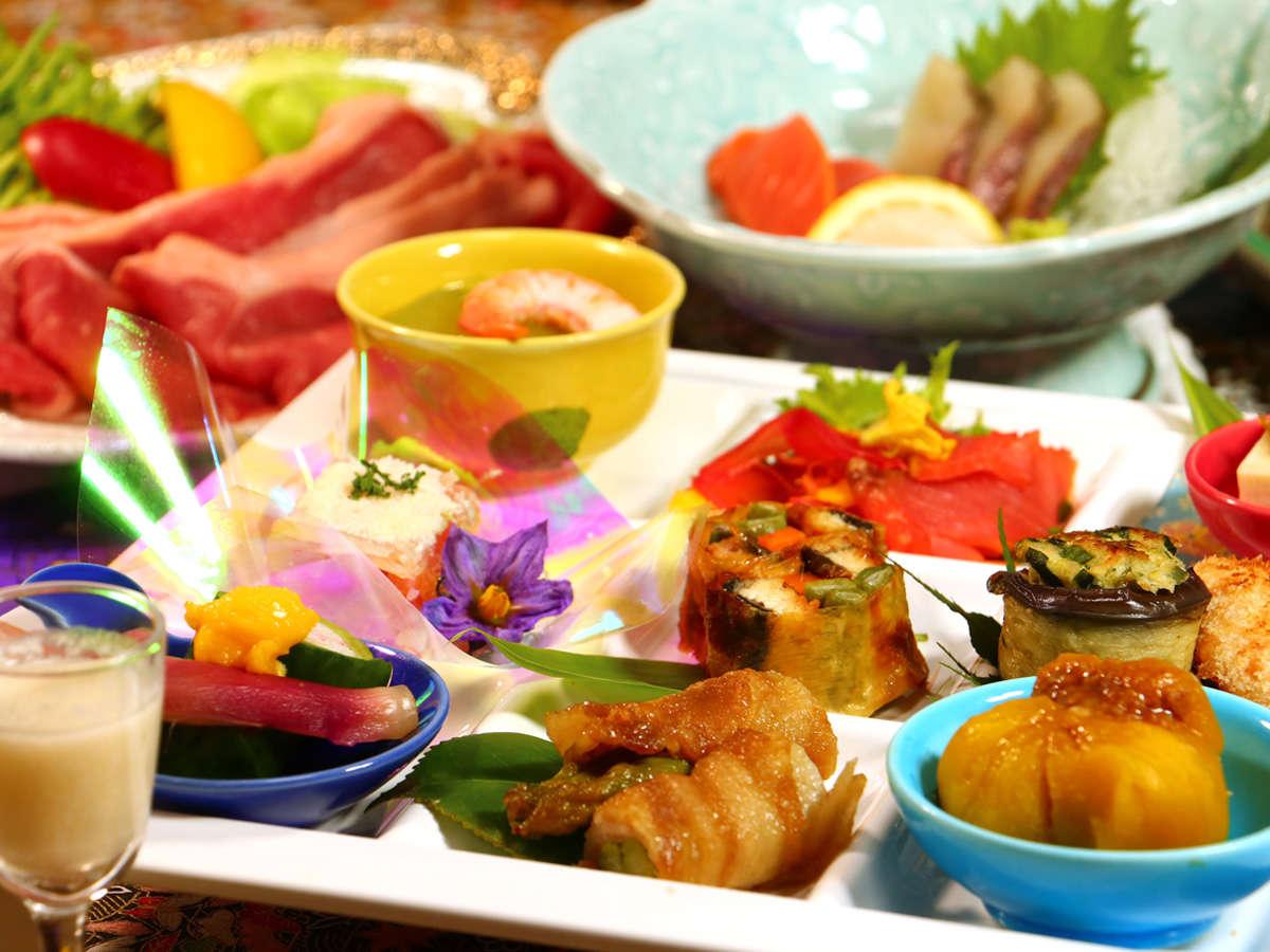 【お食事一例-彩】最後の一口まで飽きのこない驚きを…。素材の美味しさを最大限引き出した和食会席