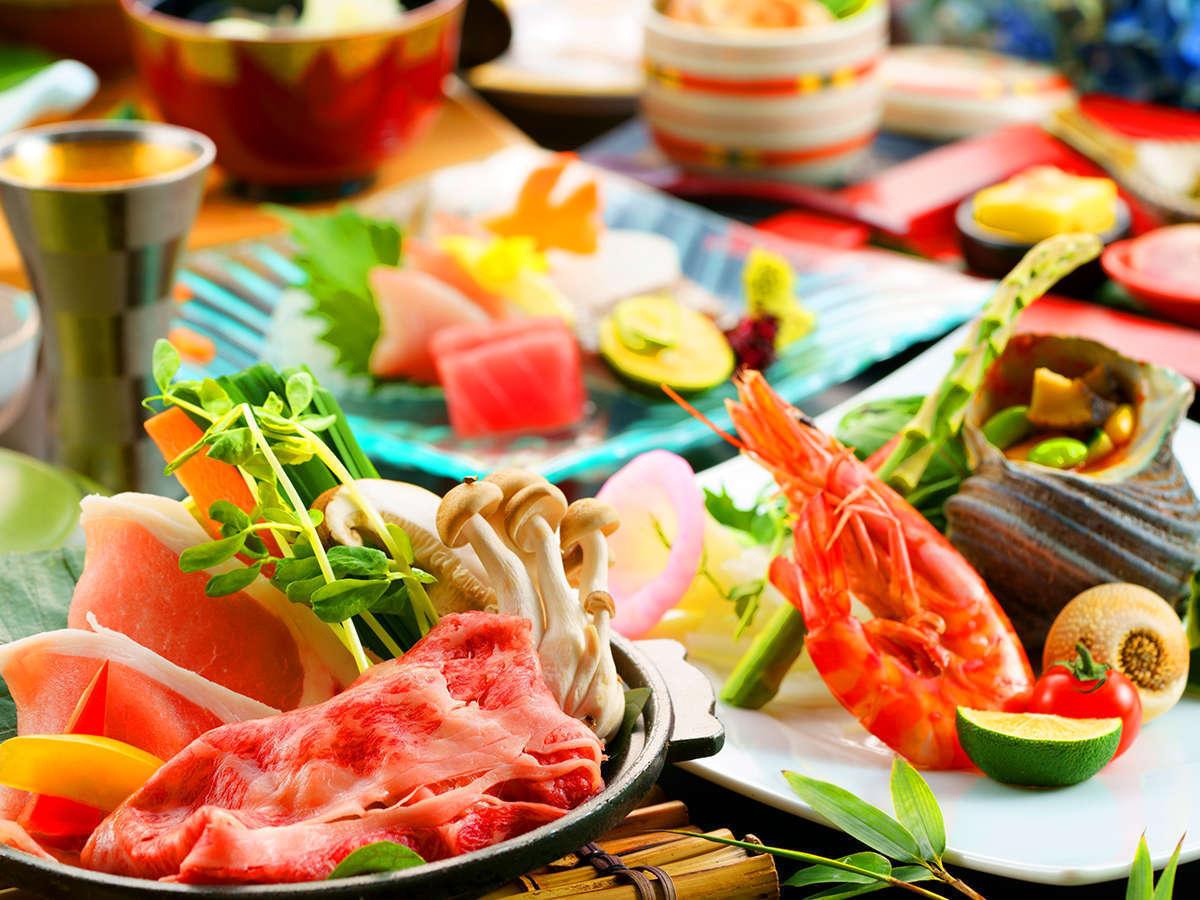 海の幸と山の幸に恵まれた大分ならでは食材をふんだんに使った創作会席を御愉しみください。