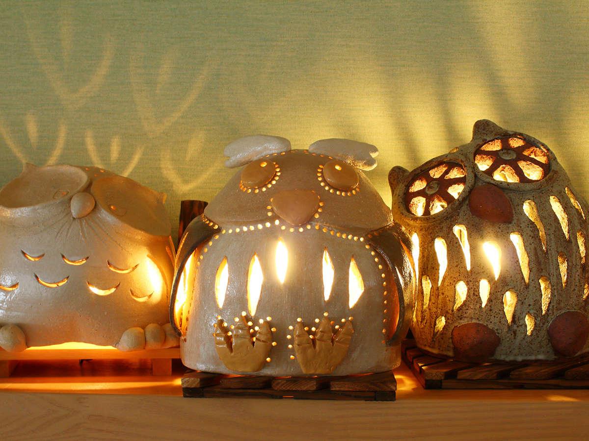 陶器の灯り取り略して陶灯り(とうあかり)