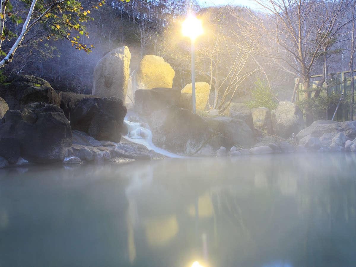 夕暮れの露天風呂【男性用】