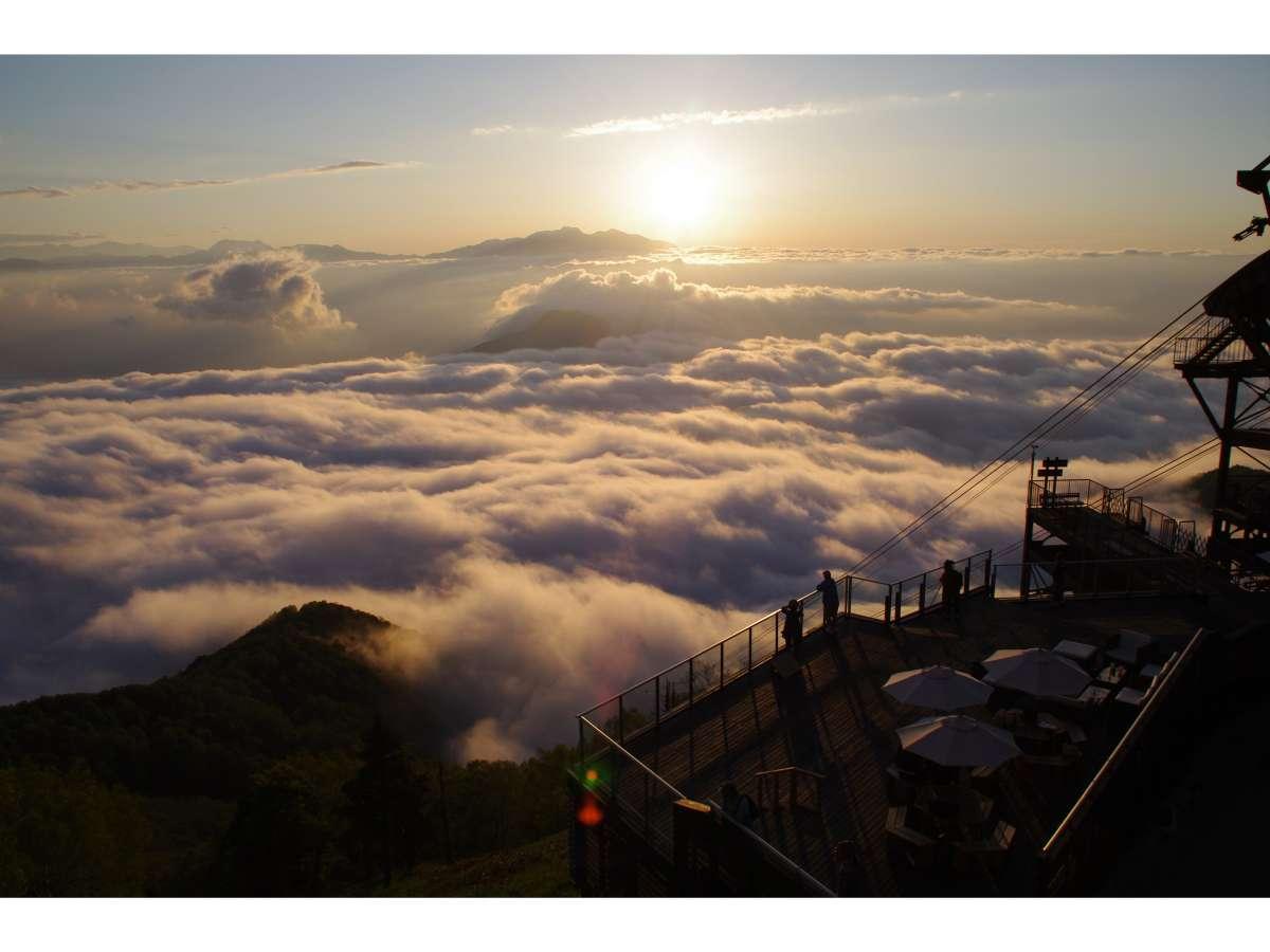 ソラテラスにて雲海を一望出来ます