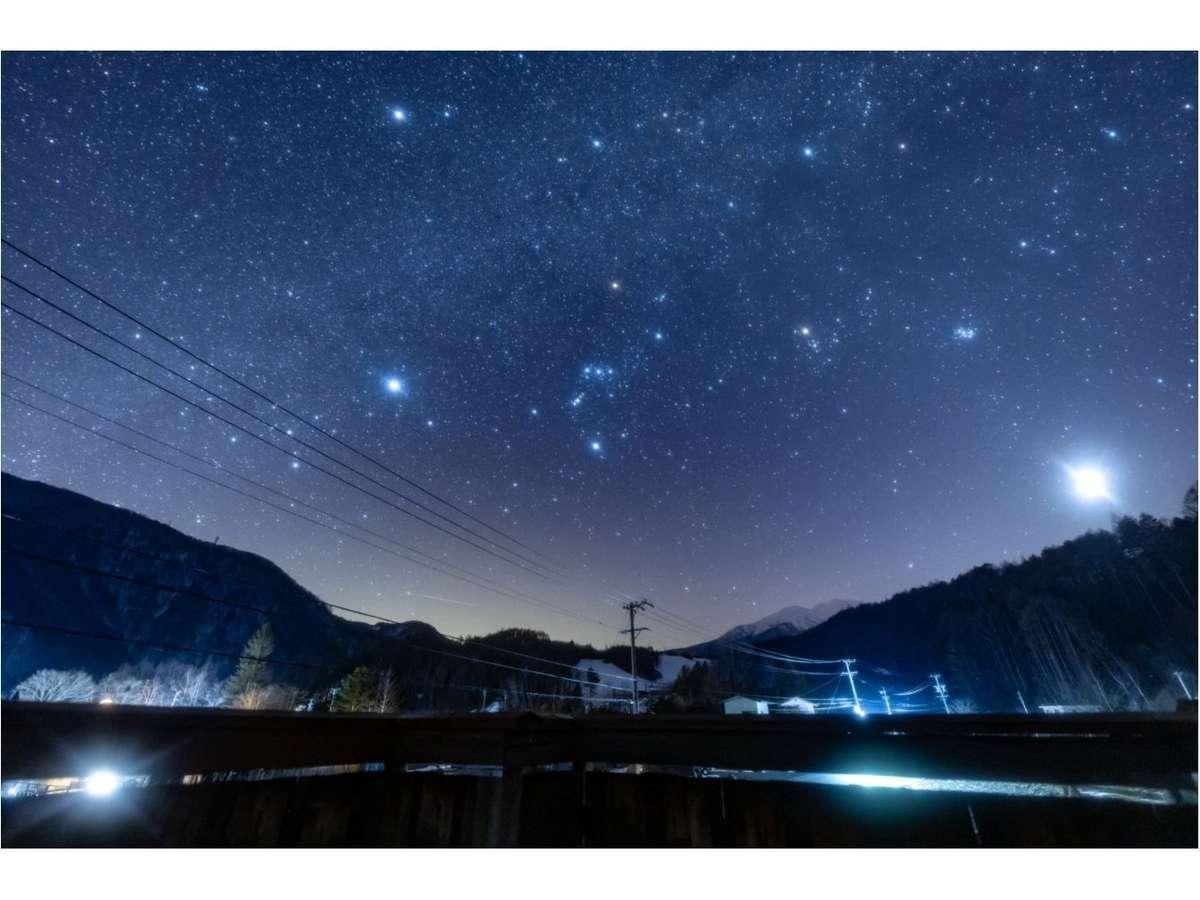露天風呂からの星空
