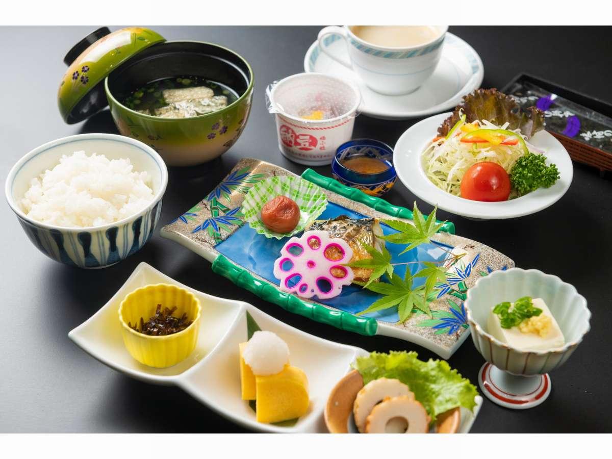 仁多米の和朝食の一例