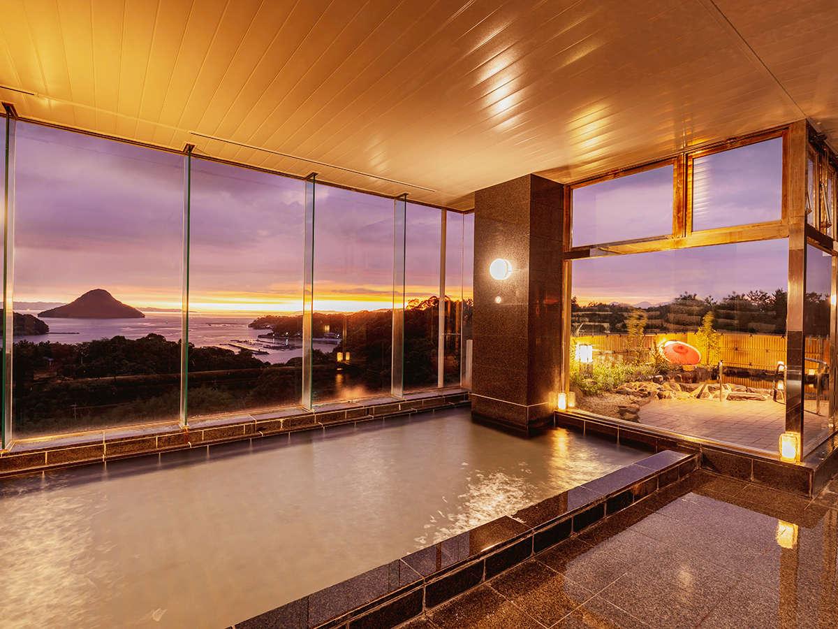 夕方の展望大浴場