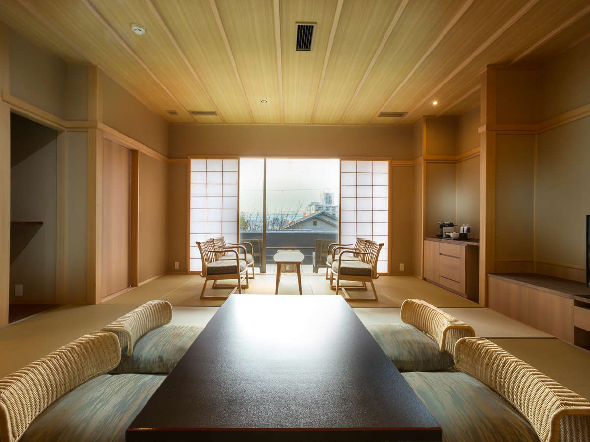 和室(縁側テラス付) 64平米 ※客室内の間取りはフォトギャラリーをご参照ください
