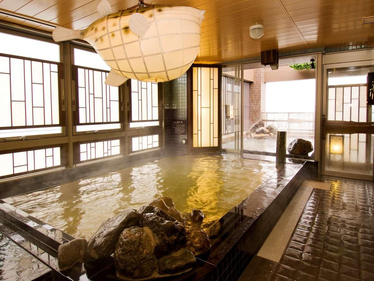 ◆最上階天然温泉大浴場★男性内湯★湯温41~42℃