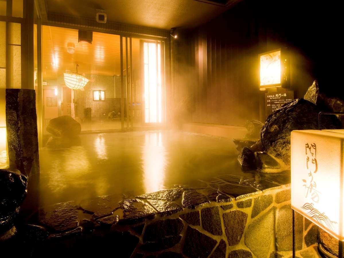 ◆最上階天然温泉大浴場★男性露天風呂★湯温42~43℃