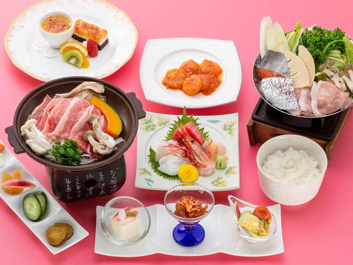 *【美食プラン】様々な味を楽しめる和洋折衷コースです。