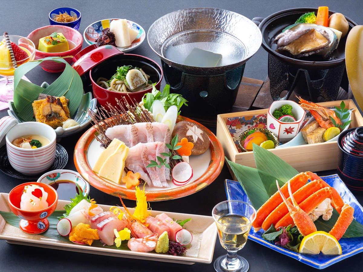 【夕食】会席料理「海鮮三昧」 ※写真は2021年4月から2021年9月までのイメージとなります。
