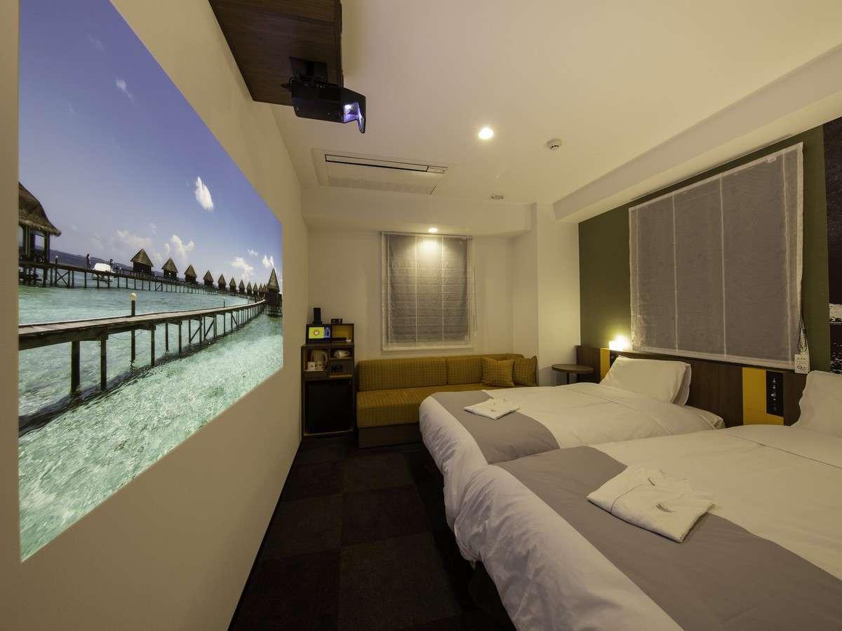 【シアタートリプル】最大約80インチの大画面!映画・TVドラマなど約400作品をお部屋でお楽しみください。