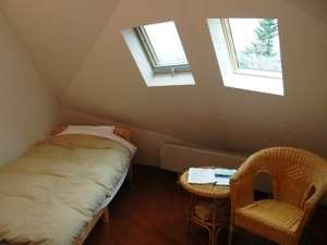 天井がドーム型のツインルーム