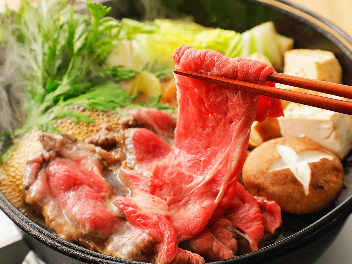 【★2021秋の料理フェア★】和牛と秋野菜のすき焼き※イメージ