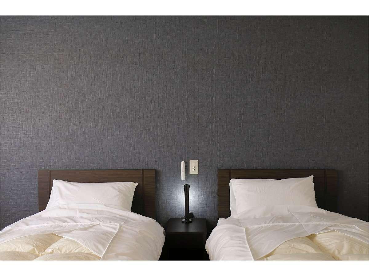 ツインルーム シモンズベッドで快適な眠りをどうぞWi-Fiご利用いただけます