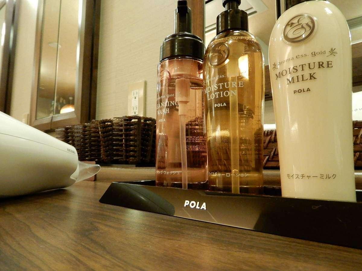 """◆POLA""""aroma esse""""大浴場にてご用意しております"""