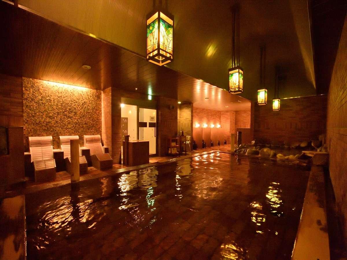 【男性大浴場】天然温泉「灯の湯」内風呂