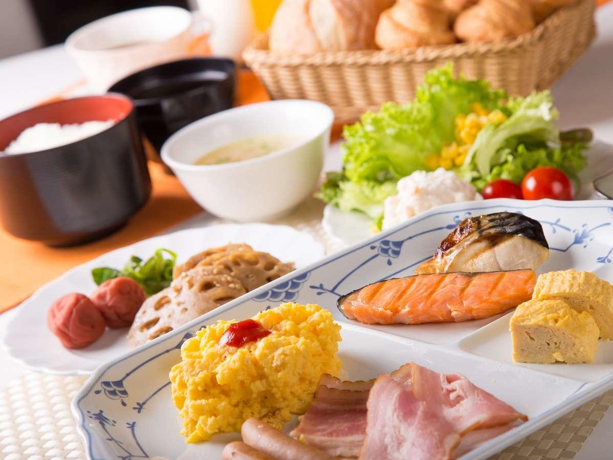 【朝食バイキング盛付例】