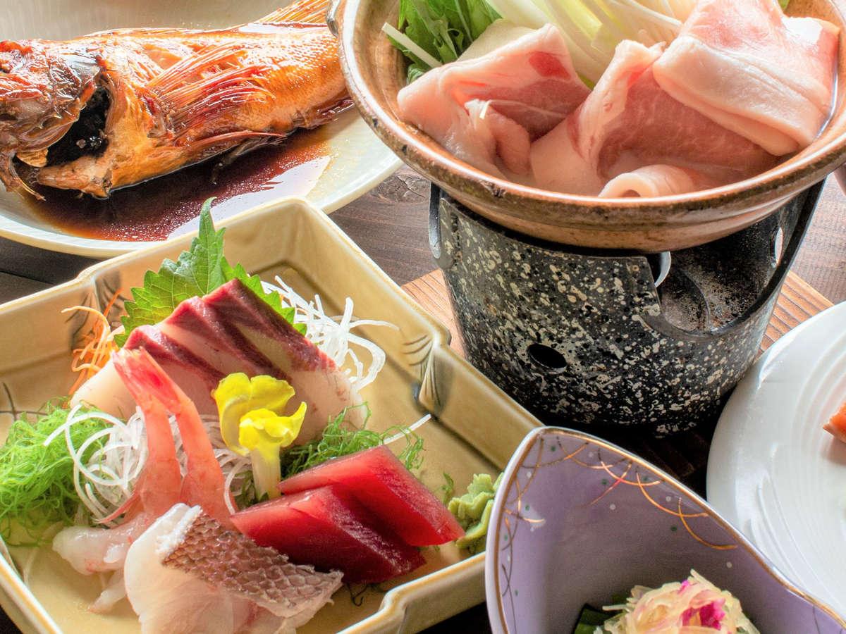 *夕食一例/スタンダードプラン(冬料理)旬の恵みを味わえる、新潟ならではの味わい深い会席料理。
