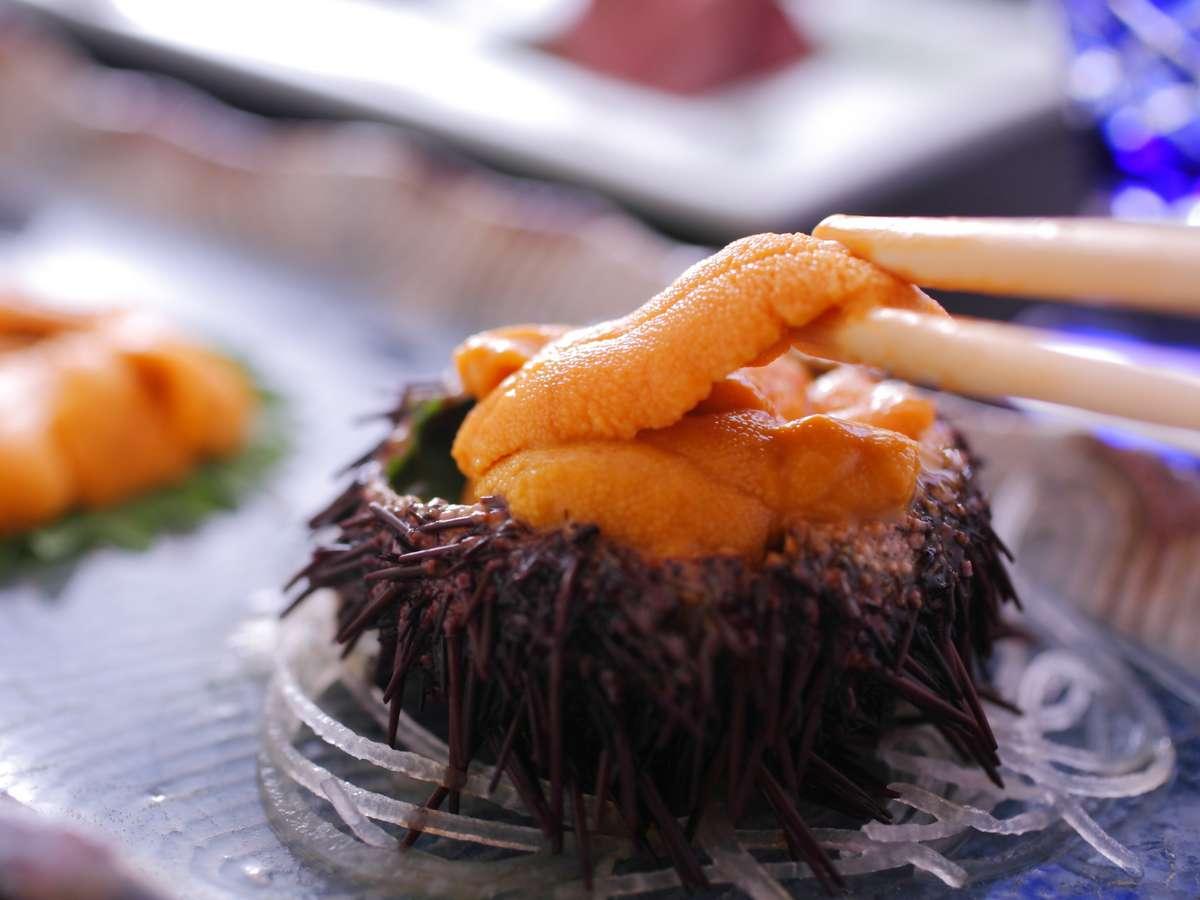 【赤雲丹】間人で獲れた「幻の赤ウニ」は口の中で甘みが広がり一度食べたら忘れられない味。