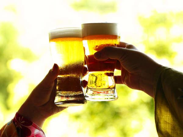 湯上りに♪ビール1杯サービス。16~18時だけの贅沢なおもてなし。