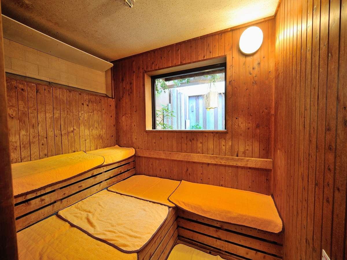 ◆男性大浴場 サウナルーム 営業時間15時~翌1時 翌5時~10時まで