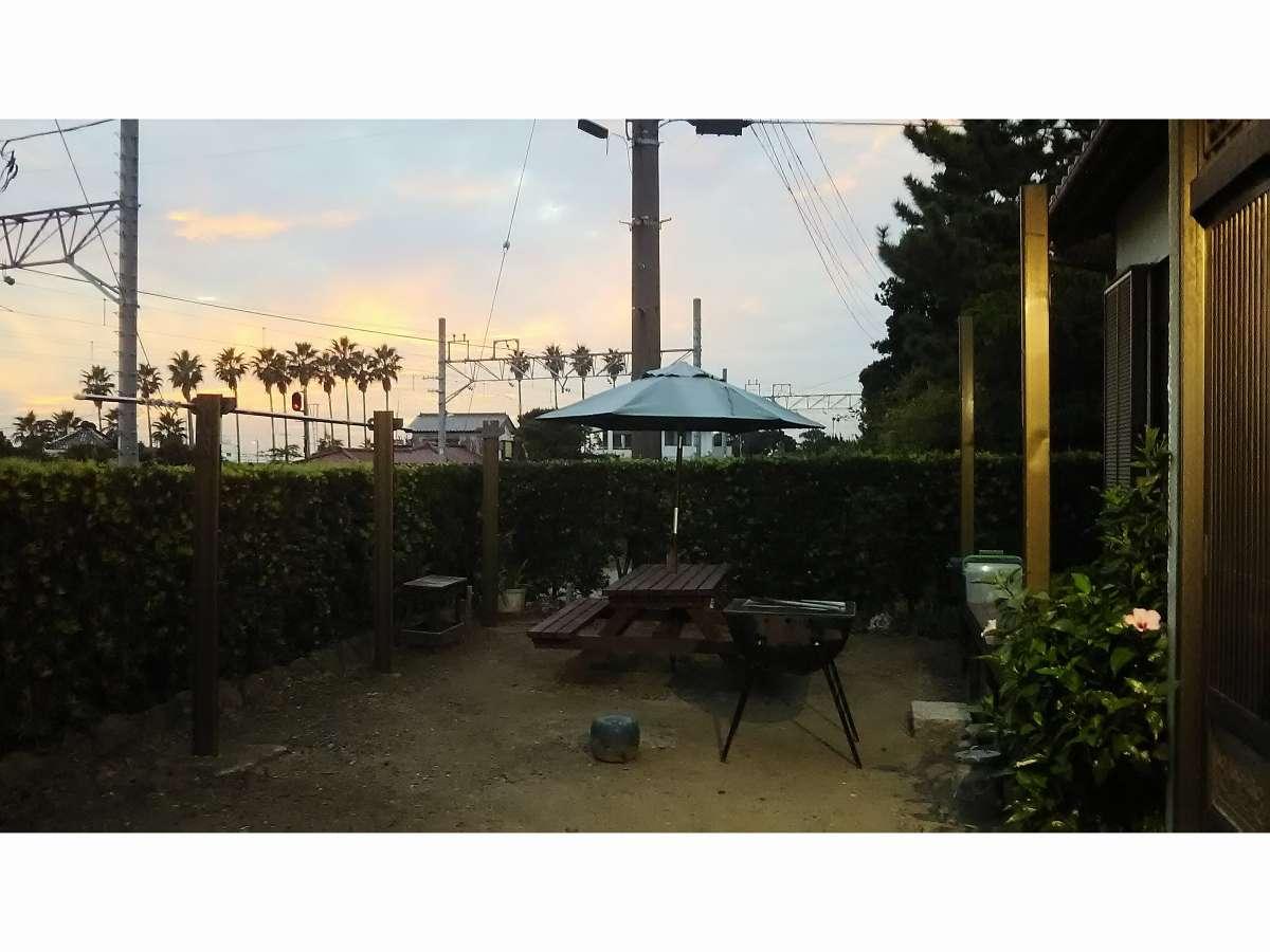 villaはまかなやから見える夕景