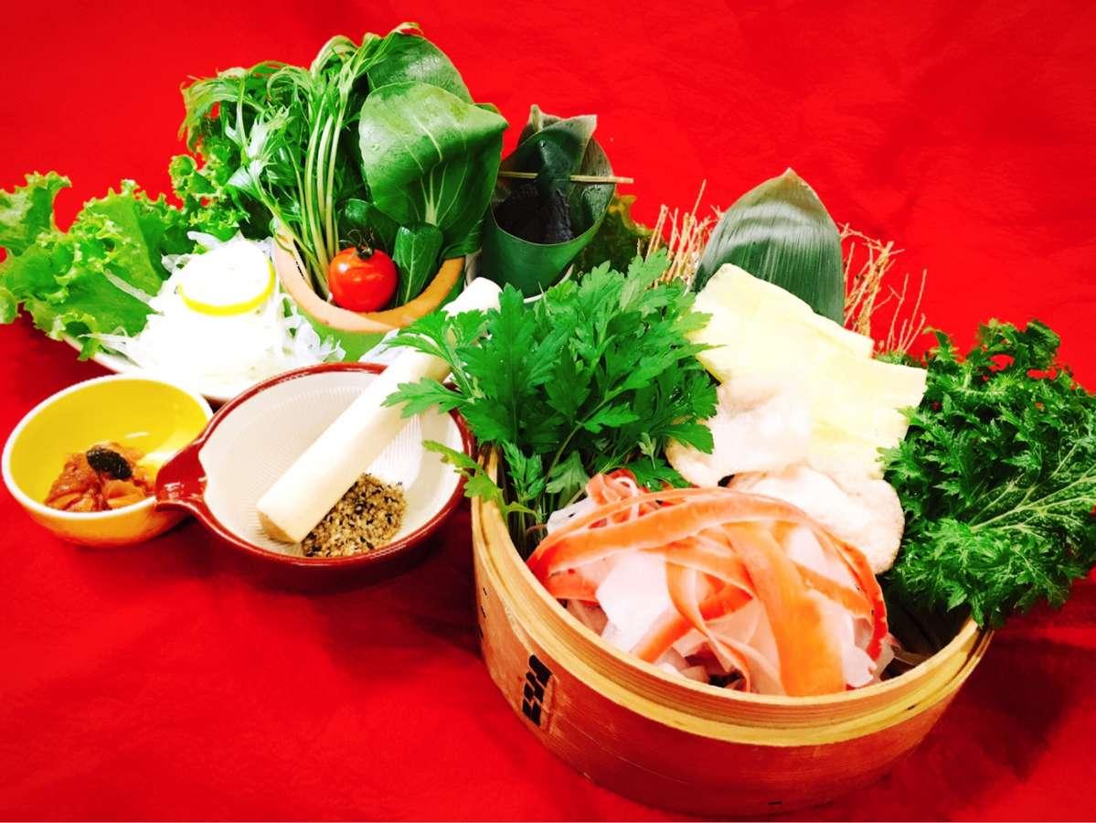 2017年冬 お野菜中心「カラダ想いの和らぎコース」夕食例