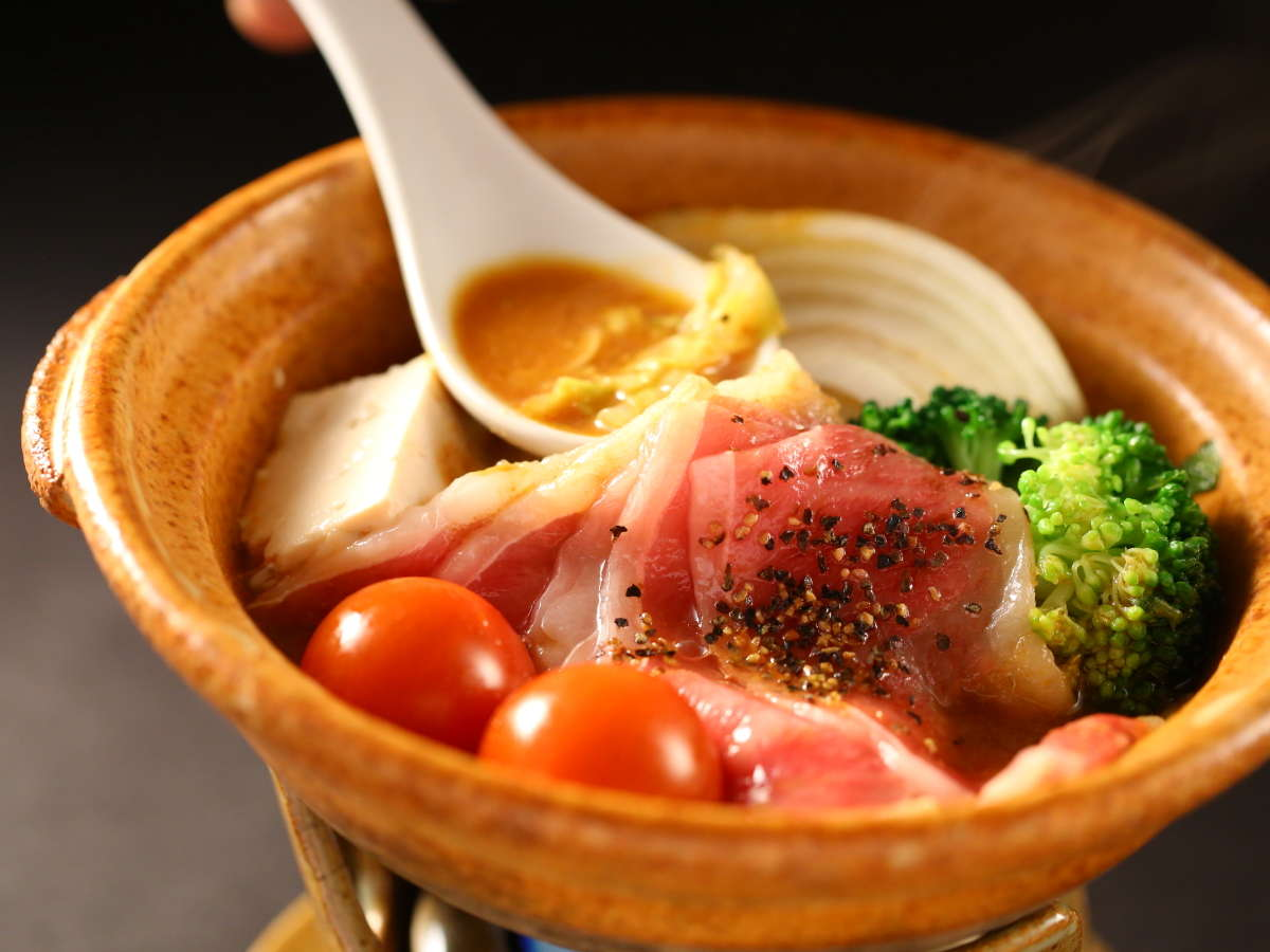 〆はリゾットに♪【信州牛特製鍋焼き】