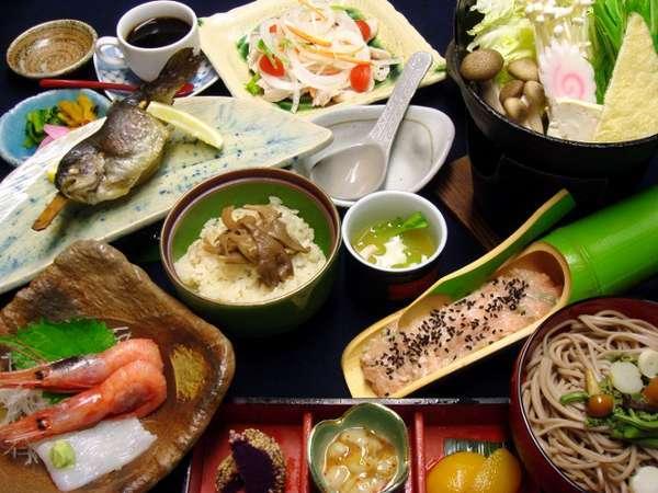 和食中心の美味しい夕食をお召し上がりください