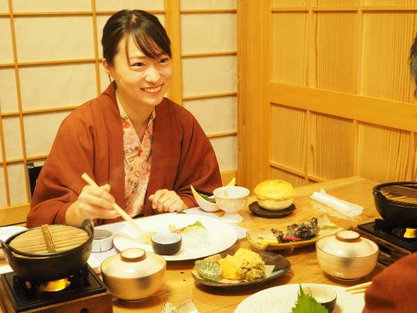 【食事処】人気の個室食事処。当館は全プラン個室でのお食事です!