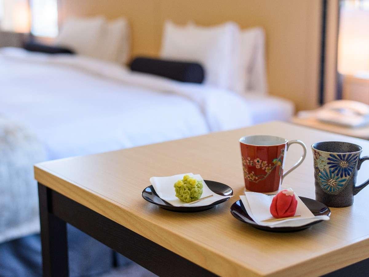 【プレミアツイン】お茶と和菓子で優雅なひと時(イメージ)