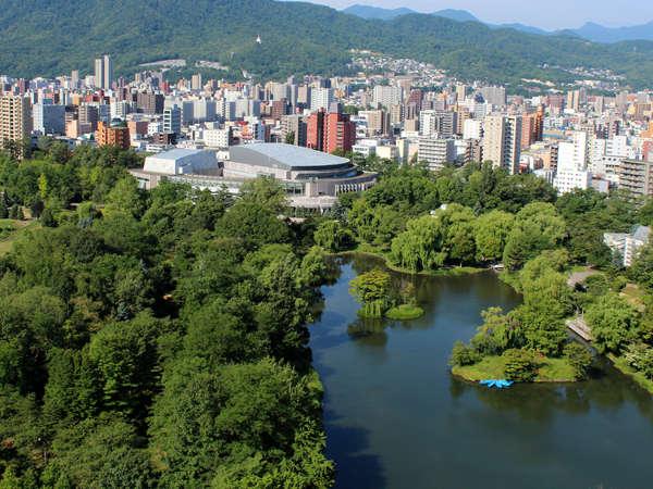 中島公園客室からの眺望