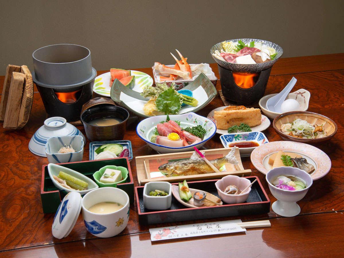 *夕食 旬な食材や地場の食材を活かした料理をご提供いたします。